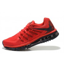 CHEAP NIKE AIR MAX 2015 MEN RUNNING SHOES BLACK RED FOR SALE