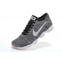 NIKE AIR ZOOM FIT AGILITY FLYKNIT MEN RUNNING SHOES BLACK WHITE GRAY OUTLET SALE