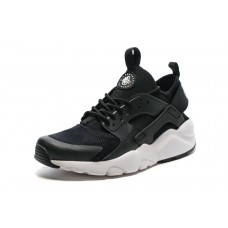 CHEAP NIKE AIR HUARACHE IV4 WOMEN RUNNING SHOES BLACK WHITE OUTLET