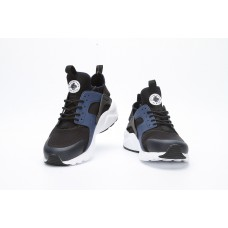 CHEAP NIKE AIR HUARACHE IV 4 MEN RUNNING SHOES BLACK WHITE DEEP BLUE FOR SALE