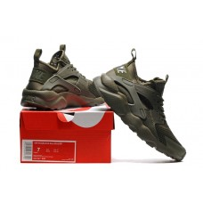 CHEAP NIKE AIR HUARACHE IV 4 WOMEN RUNNING SHOES ARMY GREEN OUTLET SALE ONLINE