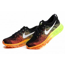 CHEAP NIKE AIR MAX 2014 MEN RUNNING SHOES BLACK ORANGE FLUORESCENT GREEN SALE
