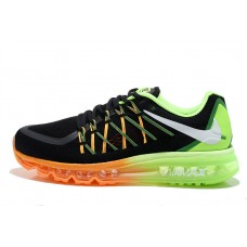 CHEAP NIKE AIR MAX 2015 MEN RUNNING SHOES BLACK ORANGE FLUORESCENT GREEN SALE