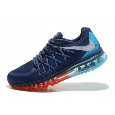 CHEAP NIKE AIR MAX 2015 MEN RUNNING SHOES BLUE RED MOON OUTLET