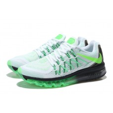 CHEAP NIKE AIR MAX 2015 MEN RUNNING SHOES WHITE BLACK FLUORESCENT GREEN FOR SALE