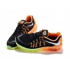 CHEAP NIKE AIR MAX 2015 WOMEN RUNNING SHOES BLACK ORANGE FLUORESCENT GREEN FOR SALE