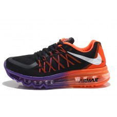 CHEAP NIKE AIR MAX 2015 WOMEN RUNNING SHOES BLACK ORANGE PURPLE FOR SALE