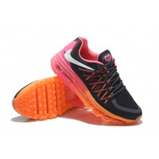 CHEAP NIKE AIR MAX 2015 WOMEN RUNNING SHOES BLACK PINK ORANGE FOR SALE