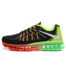CHEAP NIKE AIR MAX 2015 WOMEN RUNNING SHOES BLACK RED GREEN OUTLET
