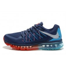 CHEAP NIKE AIR MAX 2015 WOMEN RUNNING SHOES BLUE RED FOR SALE