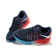 CHEAP NIKE AIR MAX 2015 WOMEN RUNNING SHOES BLUE RED JADE OUTLET