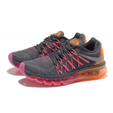 CHEAP NIKE AIR MAX 2015 WOMEN RUNNING SHOES CHARCOAL PEACH FOR SALE