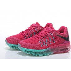 CHEAP NIKE AIR MAX 2015 WOMEN RUNNING SHOES PEACH FLUORESCENT GREEN SALE