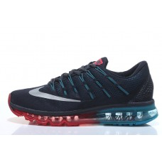 CHEAP NIKE AIR MAX 2016 MEN RUNNING SHOES BLACK MOON RED OUTLET