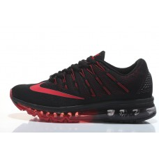 CHEAP NIKE AIR MAX 2016 MEN RUNNING SHOES BLACK RED WHOLESALE