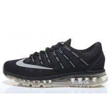 CHEAP NIKE AIR MAX 2016 MEN RUNNING SHOES BLACK SILVER OUTLET