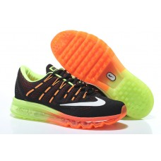 CHEAP NIKE AIR MAX 2016 WOMEN RUNNIGN SHOES BLACK FLUORESCENT GREEN ORANGE OUTLET