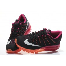 CHEAP NIKE AIR MAX 2016 WOMEN RUNNING SHOES BLACK ORANGE OUTLET