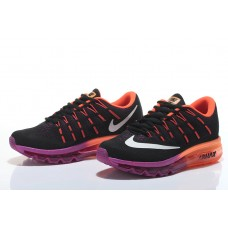 CHEAP NIKE AIR MAX 2016 WOMEN RUNNING SHOES BLACK ORANGE PURPLE SALE
