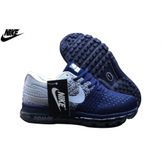 Cheap Nike Air Max 2017 Flyknit Men Shoes Dark Blue Grey White Sale