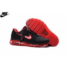 Cheap Nike Air Max 2017 KPU Men Running Shoes Black Crimson Sale
