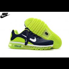 Cheap Nike Air Max 2017 KPU Men Running Shoes Navy Fluorescent Green White