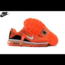 Cheap Nike Air Max 2017 KPU Running Shoes Orange Black White Outlet