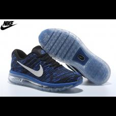 Cheap Nike Air Max 2017 Running Shoes Black Royal Blue White Wholesale