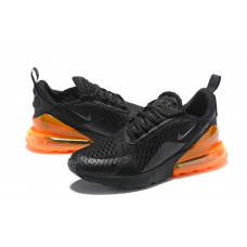 Cheap Nike Air Max 270 Men Shoes Black Orange Sale