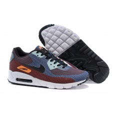 CHEAP NIKE AIR MAX 90 MEN RUNNING SHOES ORANGE BLUE BLACK OUTLET