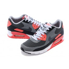CHEAP NIKE AIR MAX 90 WOMEN RUNNING SHOES BLACK RED GRAY LENS FOR SALE