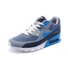CHEAP NIKE AIR MAX 90 WOMEN RUNNING SHOES DARK BLUE GRAY LIGHT BLUE SALE