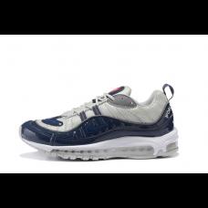 Cheap NIke Air Max 98 Men Shoes Blue Grey Sale