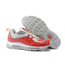 Cheap NIke Air Max 98 Men Shoes Red Grey Wholesale