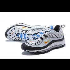 Cheap NIke Air Max 98 Men Shoes White Blue Sale