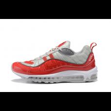 Cheap NIke Air Max 98 Women Shoes Red Grey