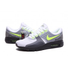 CHEAP NIKE AIR MAX ZERO WOMEN RUNNING SHOES WHITE BLACK FLUORESCENT GREEN OUTLET