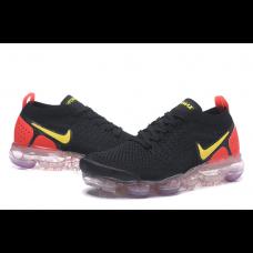 Cheap Nike Air Vapormax Flyknit 2.0 Men Shoes Black Red Yellow