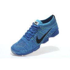 CHEAP NIKE AIR ZOOM FIT AGILITY FLYKNIT MEN RUNNING SHOES BLUE BLACK FOR SALE