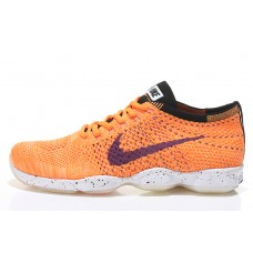 CHEAP NIKE AIR ZOOM FIT AGILITY FLYKNIT MEN RUNNING SHOES WHITE BLACK ORANGE FOR SALE