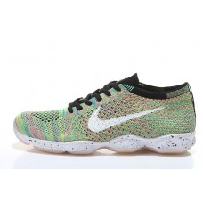 CHEAP NIKE AIR ZOOM FIT AGILITY FLYKNIT WOMEN RUNNING SHOES BLACK WHITE RAINBOW FOR SALE