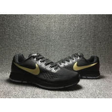 Cheap Nike Air Zoom Pegasus 34 Men Shoes Black Gold