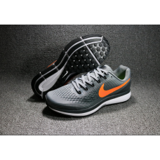 Cheap Nike Air Zoom Pegasus 34 Men Shoes Grey Orange