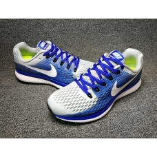 Cheap Nike Air Zoom Pegasus 34 Women Shoes Blue Grey