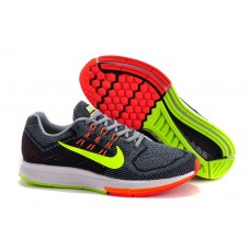 CHEAP NIKE AIR ZOOM STRUCTURE 18 MEN RUNNING SHOES BLACK GRAY FLUORESCENT GREEN FOR SALE