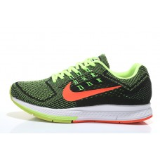 CHEAP NIKE AIR ZOOM STRUCTURE 18 MEN RUNNING SHOES BLACK ORANGE FLUORESCENT GREEN SALE