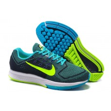 CHEAP NIKE AIR ZOOM STRUCTURE 18 WOMEN RUNNING SHOES BLACK BLUE FLUORESCENT GREEN SALE