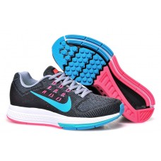 CHEAP NIKE AIR ZOOM STRUCTURE 18 WOMEN RUNNING SHOES BLACK BLUE PINK OUTLET SALE