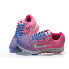 CHEAP NIKE AIR ZOOM STRUCTURE 18 WOMEN RUNNING SHOES PEACH BLUE SILVER OUTLET