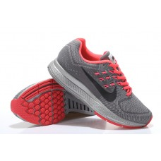 CHEAP NIKE AIR ZOOM STRUCTURE 18 WOMEN RUNNING SHOES RED GRAY WHOLESALE